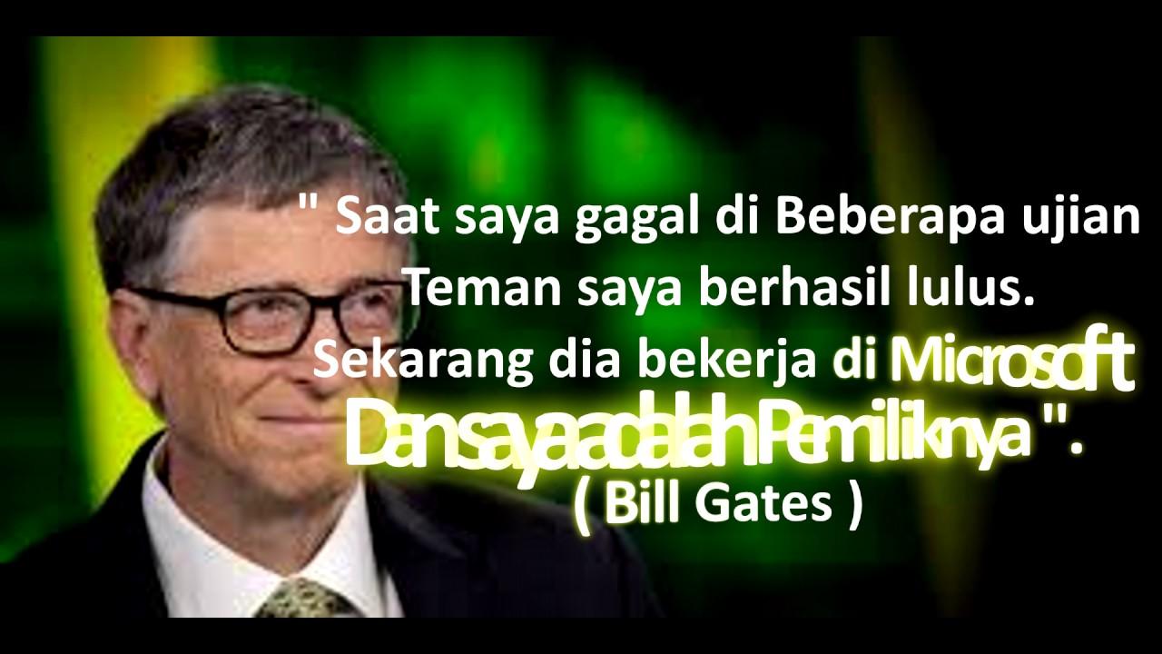 Kata Inspirasi Bill Gates 3 YouTube