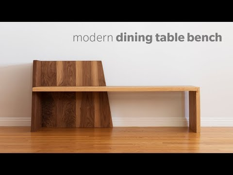 Mid Century contemporary Dining Bench – building – Woodworking