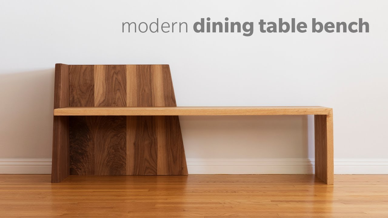 Mid Century Modern Dining Bench   How To Build   Woodworking