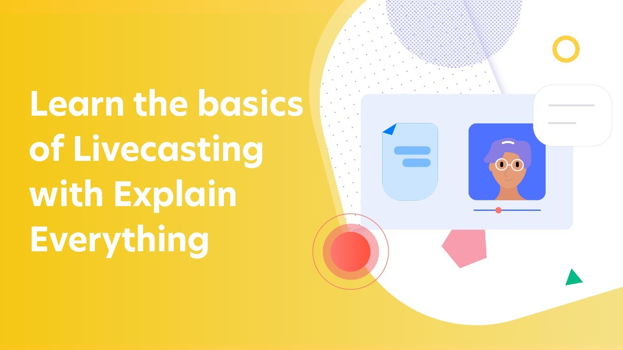 Learn the basics of Livecasting with Explain Everything #distanceteaching