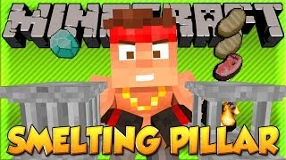 MEET The Smelting and Show-off Pillars! | Minecraft Crafting Pillar Mod!