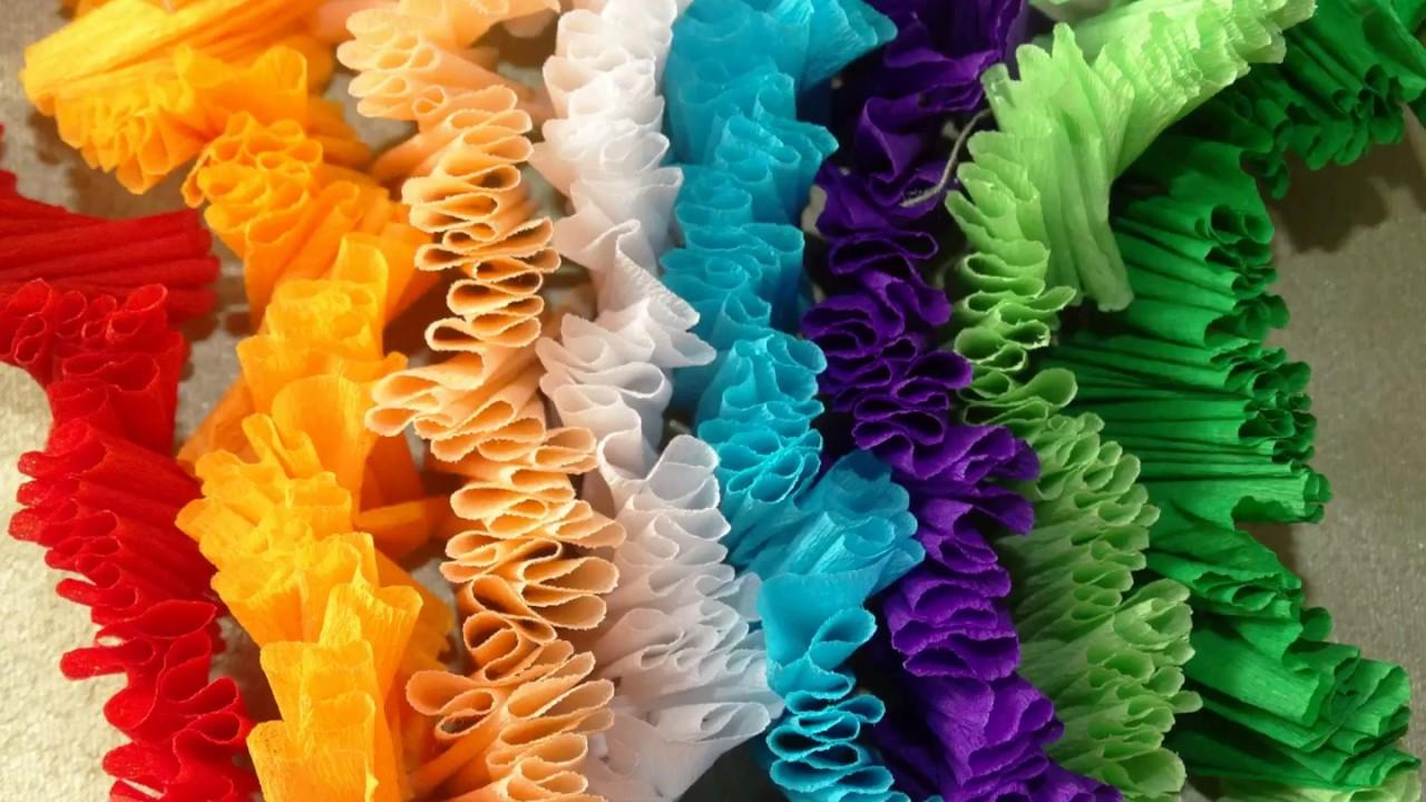 Crepe Paper Garland Ideas