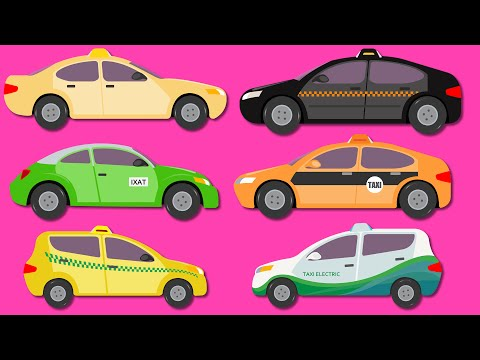Taxi Around The World | Taxi Of Different Countries | Taxi Cartoon
