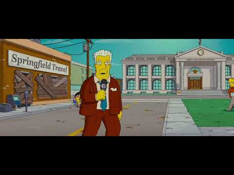 The Simpsons Movie The Crowd Chanting Of This Dome Youtube