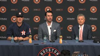 Justin Verlander introduced as an Astro