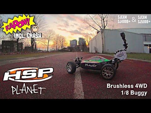 HSP PLANET - Brushless 4WD 1/8 RC Buggy Test + Crash [SJ4000+ / SJ5000+]