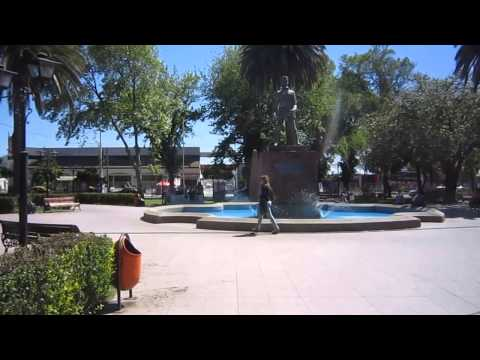 Town square of Casablanca in Chilean wine country [HD video]