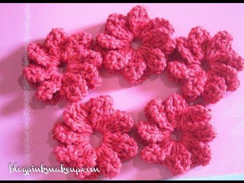 Flor de Croche Catavento - Passo a Passo - YouTube