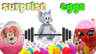tom and jerry kinder minnie mouse surprise eggs play doh dippin dots mlp sofia the first
