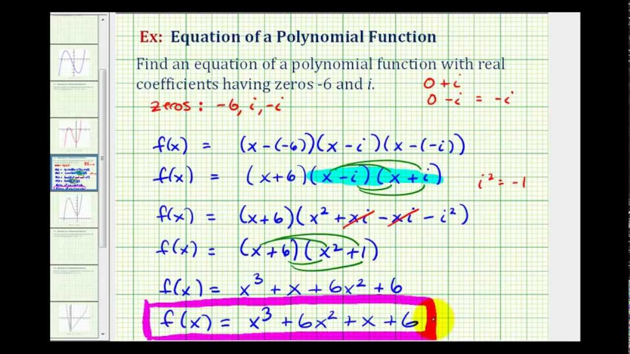 how to write conjecture on polynomials