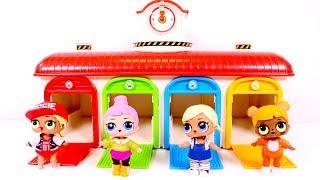 LOS COLORES 🌈 Aprende los colores con el garaje de Tayo y las muñecas LOL
