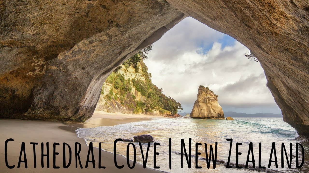 Conquering Cathedral Cove New Zealand Youtube