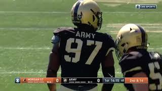 Army Football: Kwabena Bonsu Sack vs. Morgan State 9-21-19