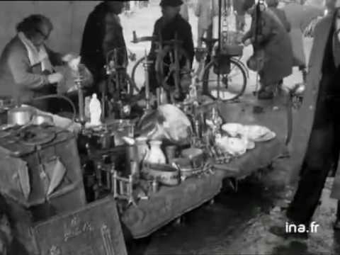 march aux puces lyon 1955 youtube. Black Bedroom Furniture Sets. Home Design Ideas