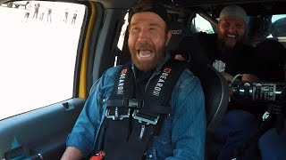 Ride Along As Chuck Norris Smashes A Jeep In The BroDozer | Diesel Brothers