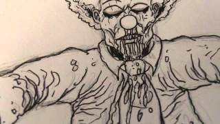 Draw A Zombie Clown Drawing Tutorial Videos 1-3