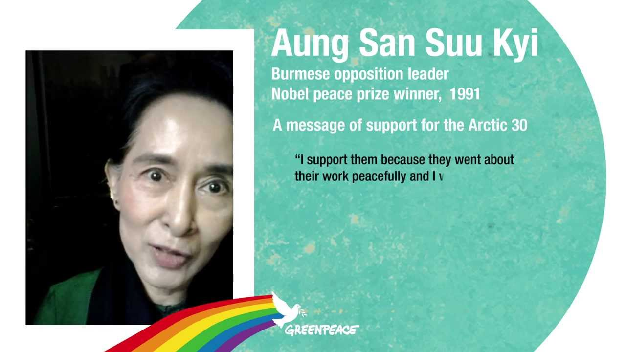 Aung San Suu Kyi message of support for the Arctic 30