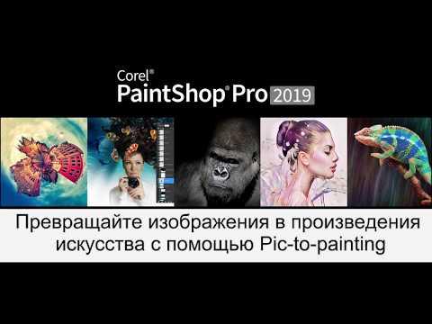 Возможности пресета Pic-to-Painting в Corel PaintShop Pro 2019.