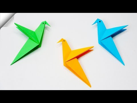How to make a paper bird Easy paper birds