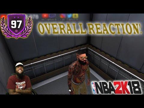 I UNLOCKED SECRET JORDANS AT 97 OVERALL REACTION!💯 |*NOT CLICKBAIT* | NBA 2k18 99 OVERALL GRIND