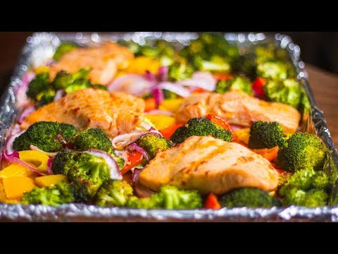 Salmon And Veggies Sheet Pan Dinner Ep. 53