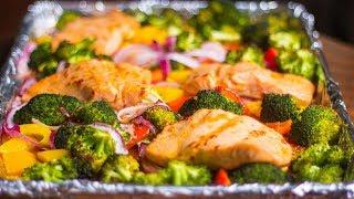 Salmon and Veggies Sheet Pan Dinner Ep. 53