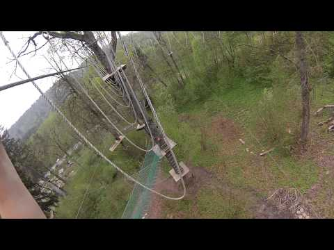 GOPRO HD HERO 3 Power route 2 in Tarzan park, Latvia