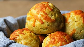 Gravy-Stuffed Cheddar Biscuit Bombs •Tasty
