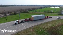 Drone footage of oversize load nearing Springfield