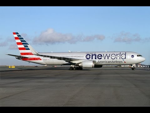 American Airlines Boeing 767 300w Mia Bcn Full Flight