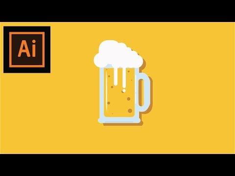 beer mug illustration || timelapse || flat illustrator tutorial thumbnail