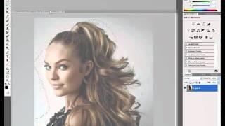 Видео Туториал по Photoshop CS5 (Волосы)(Как вырезать волосы в Adobe Photoshop CS5., 2010-08-10T10:50:45.000Z)