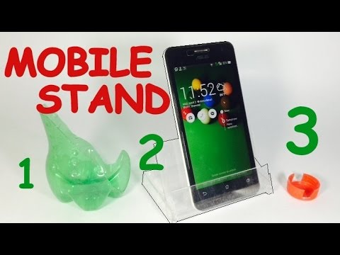 how to make mobile stand at home with cardboard