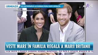 Veste mare în familia regală a Marii Britanii! Meghan Markle este însărcinată