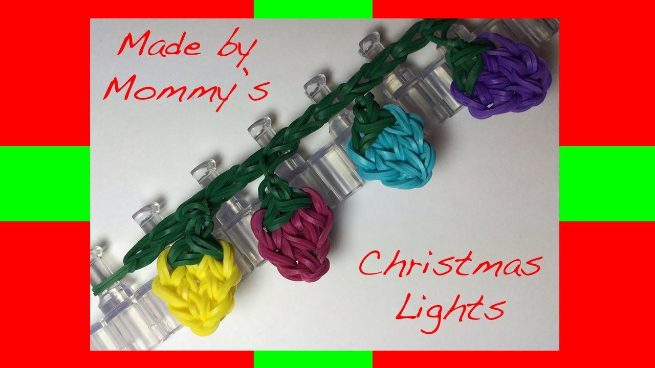 Rainbow Loom Band Christmas Lights Charm or Fairy Lights - YouTube