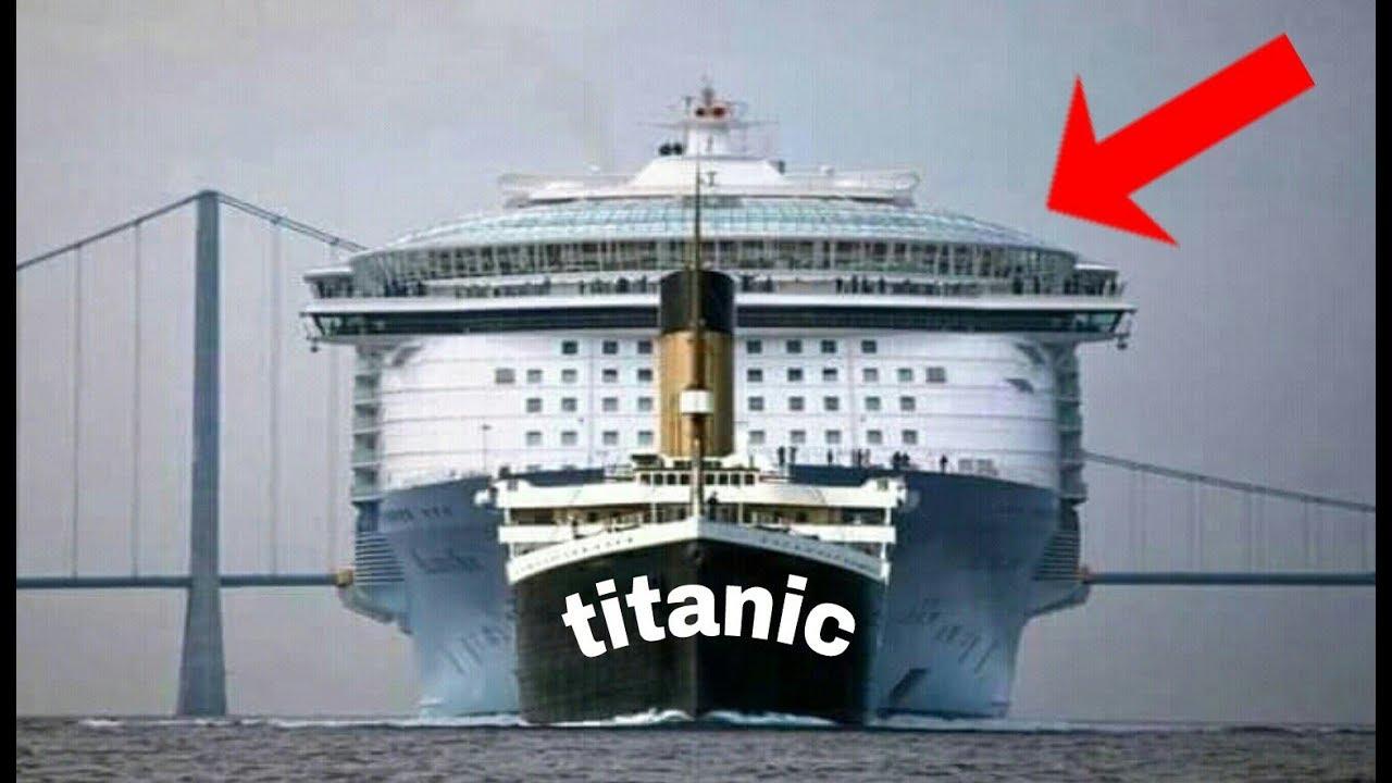El Barco Mas Grande Del Mundo El Titanic Es Un Bote Al Lado Del Mas Grande Del Planeta 2019 Youtube