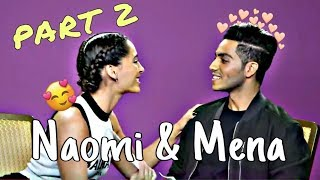 Naomi Scott and Mena Massoud Cute Funny Moments Part 2 MP3