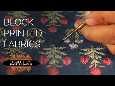 Crafted by Hand in Jaipur, India - Volume 2 Block Printed Fabrics