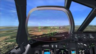 [Flight Simulator X] VOR Approach with HUD