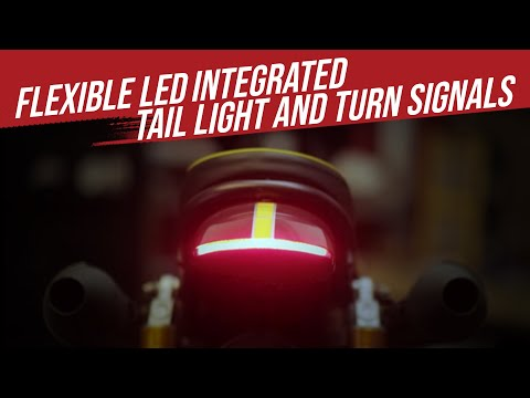 Flexible LED Integrated Tail Light / Turn Signal Indicators for Custom Motorcycles