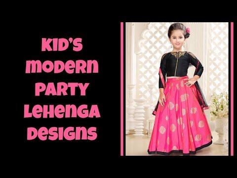 Kid's Modern Party Lehenga Designs