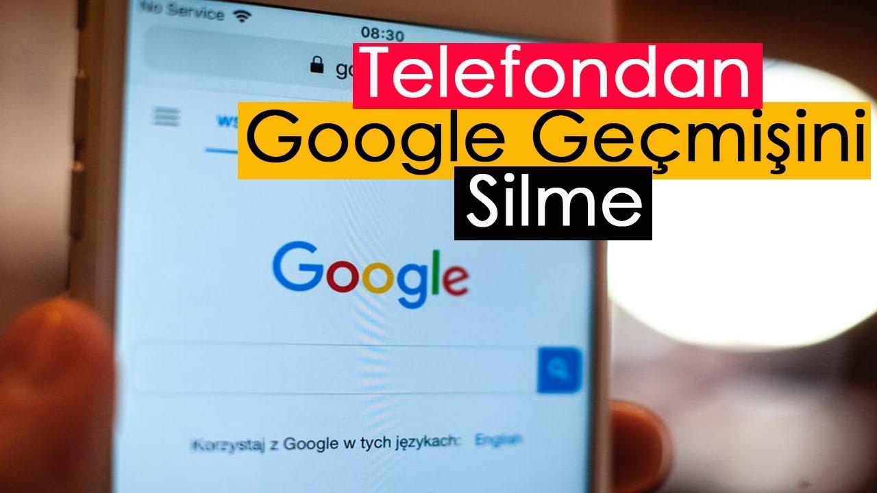 Telefondan Google Geçmişini Tamamen Silme!!!