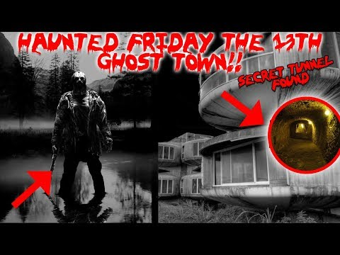 24 HOUR OVERNIGHT CHALLENGE IN THE REAL HAUNTED ABANDONED FRIDAY THE 13TH GHOST TOWN!