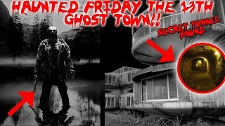 24 HOUR OVERNIGHT CHALLENGE IN THE REAL HAUNTED ABANDONED FRIDAY THE 13TH GHOST TOWN! | MOE SARGI