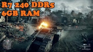battlefield 1 on R7 240 2GB DDR5 core i3 high setting test fps