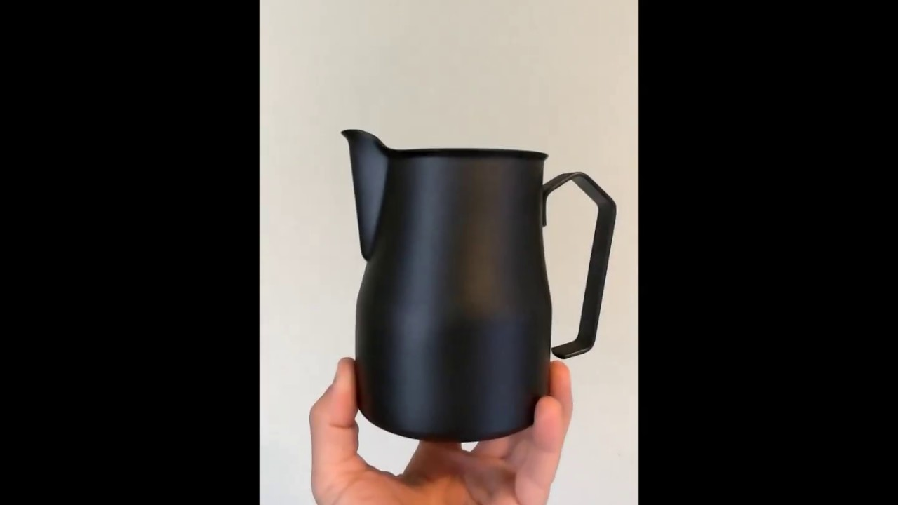 best frothing pitcher black