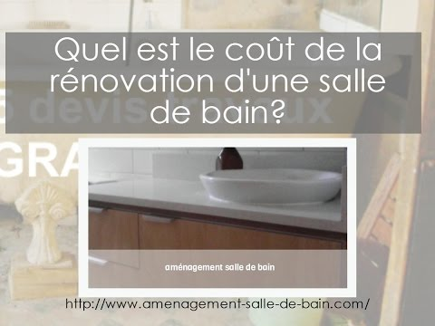 quel est le cout de la renovation d 39 une salle de bain youtube. Black Bedroom Furniture Sets. Home Design Ideas