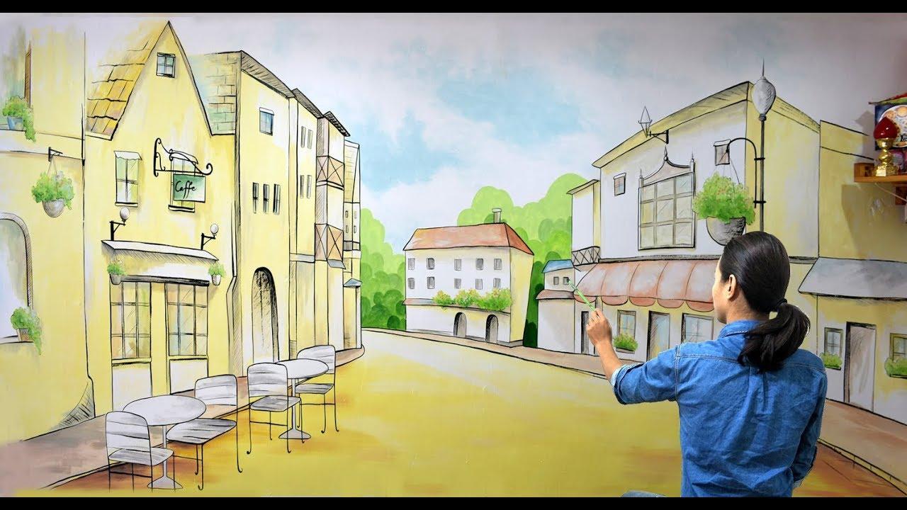 vẽ tranh tường trang trí quán cafe, trà sữa, các hệ thống nhà hàng khách sạn(Phần1).ĐT: 0969.033.288