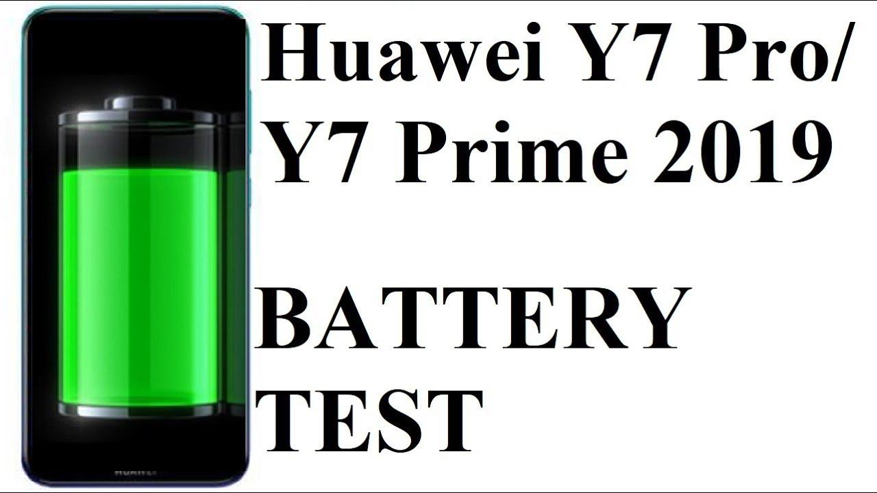 Huawei Y7 Prime 2019 / Y7 Pro 2019 - BATTERY DRAIN TEST
