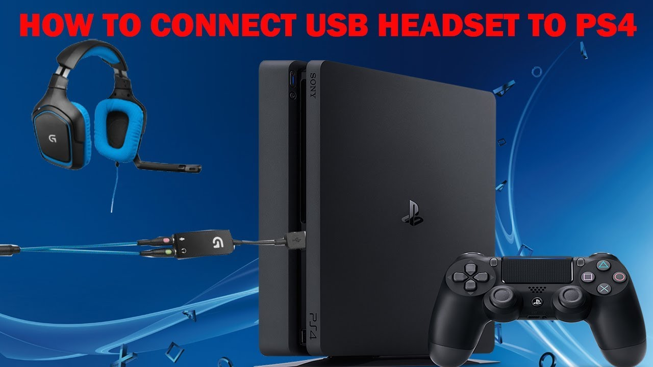How to connect a USB headset to ps4